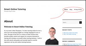 Smart Online Tutoring Website After Picture
