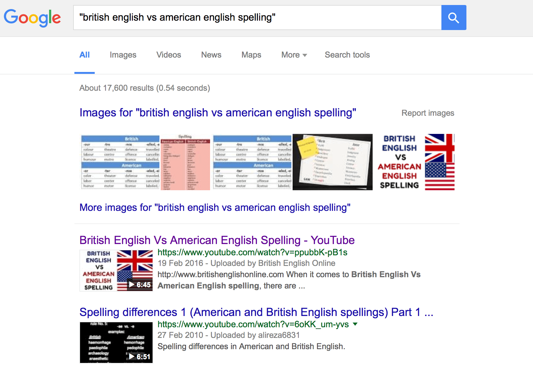 Top of Google for my tutoring video