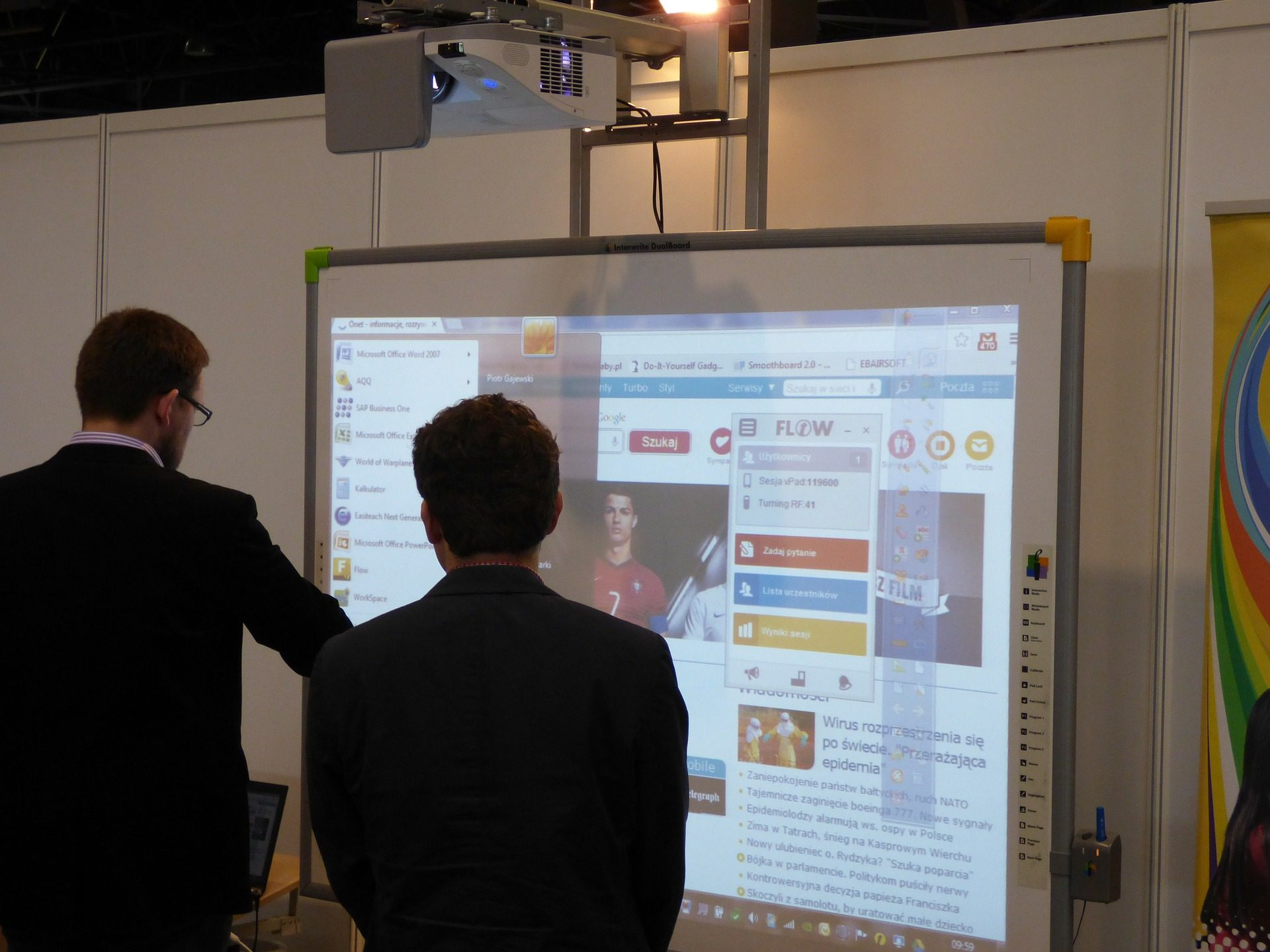 interactive whiteboard for tutoring