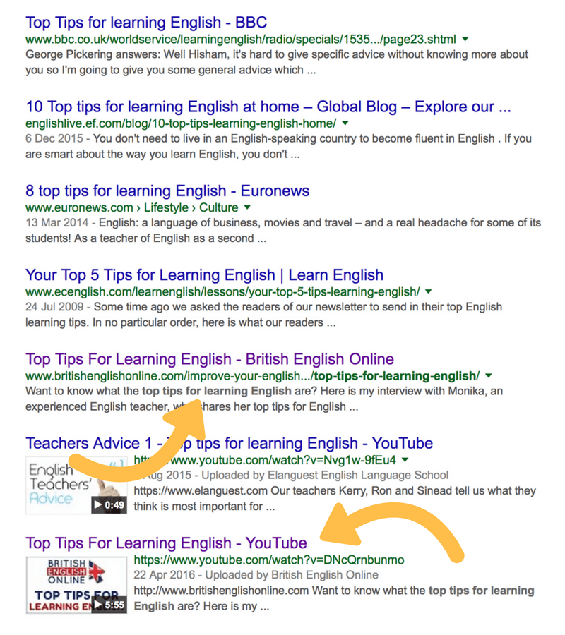 Tutoring blog post on Google