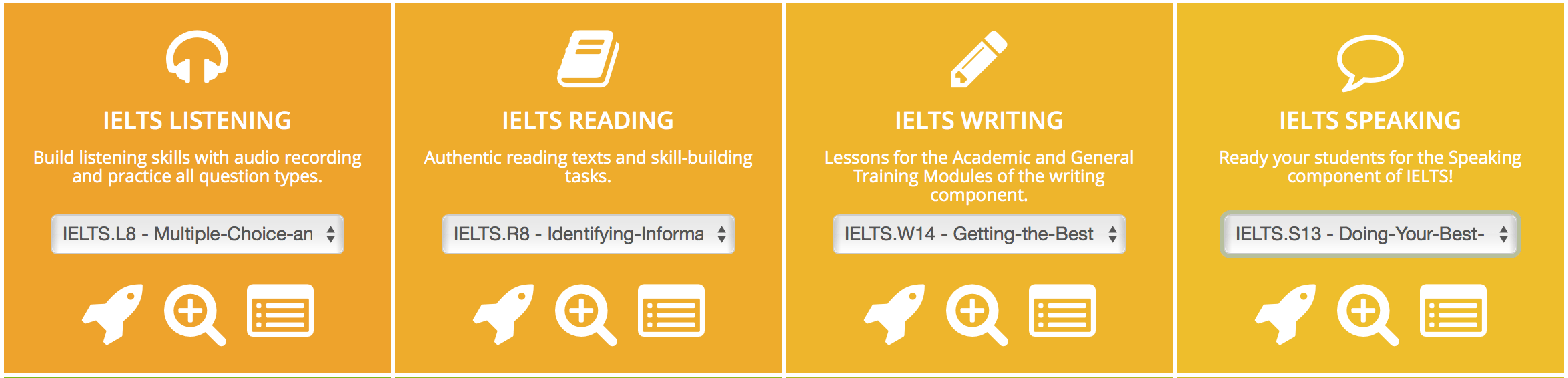 IELTS teaching materials