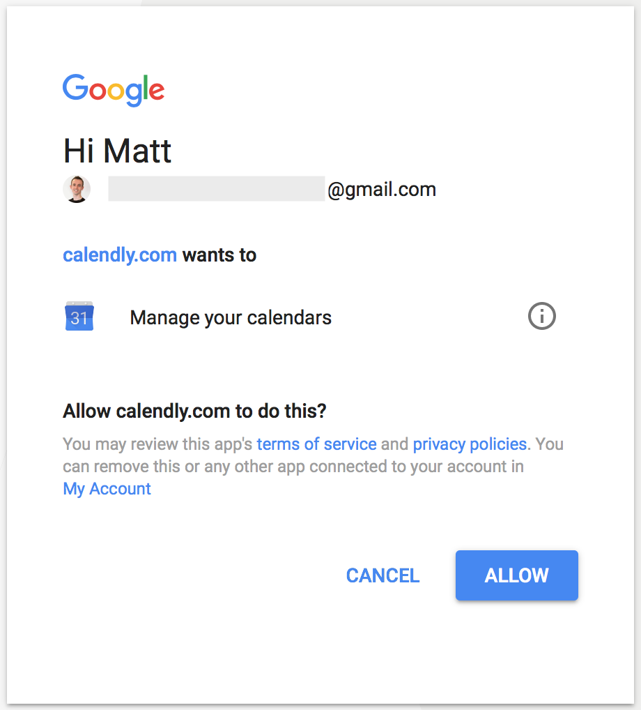Connect Google Calendar to Calendly