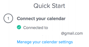 Quick start with Calendly